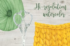 Watercolor Knitting Clipart Product Image 4