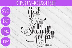Christian SVG - God is Within Her She Will Not Fall Product Image 1