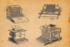 22-hand drawn typewriters Product Image 2