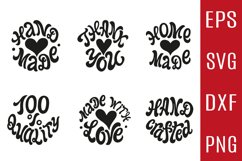 6 Hand Made Rounds SVG Bundle Product Image 1