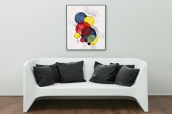 Hand painted Abstract Simple Geometric Forms Composition Product Image 2