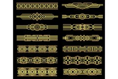 Art deco vector line borders set in 1920s graphic style Product Image 1