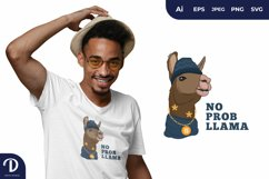 Hipster Llama for T-Shirt Design Product Image 1