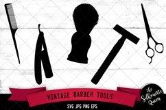 Vintage Barber Tools Svg Cut File Product Image 1