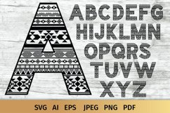 Aztec Alphabet SVG | Alphabet Letters SVG Product Image 2