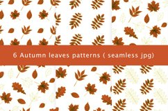 Autumn watercolor leaves pattern, seamless. Product Image 1