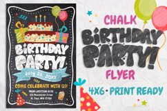 Chalk Birthday Flyer Product Image 1