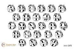 Monogram Letters SVG. Monogram Split Letters. Split Letters Product Image 2