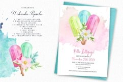 Summer Watercolor Popsicle Graphics Set and Patterns Product Image 5