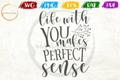 Life With You Makes Love Couple Anniversary Quote Art Product Image 1