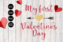 my 1st valentines Day Valentines SVG File Product Image 2