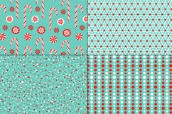 Seamless Red Blue Christmas Patterns Product Image 5