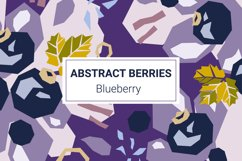 Blueberry paper cut style patterns Product Image 1
