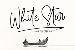 White Star- Chic Handwritten font Product Image 1