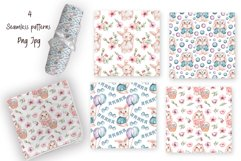 Watercolor Cute Bunny Collection Product Image 6