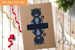 Cute Gift Package Panther Template SVG, Gift Box SVG Product Image 1