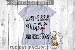 i just want to drink wine and Pet my Dog, Cat, Rescue Bund Product Image 6