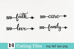 arrow svg, arrow svg file, love svg, faith svg, family svg Product Image 1