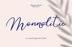 Monnolitic Casual Signature Font Product Image 1