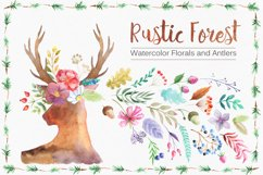 Watercolor Rustic Forest Set Product Image 1