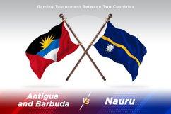 Antigua vs Nauru Two Flags Product Image 1