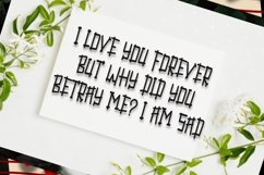 Fence Of Love | A Cute Display Font Product Image 3