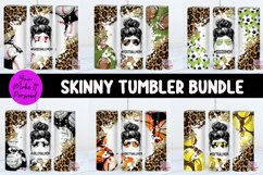 Tumbler Bundle, Messy Bun Designs with Sports Themes Product Image 1