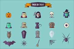 Halloween Flat Icon Set Product Image 2