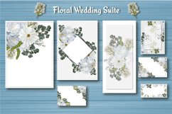 White Floral Wedding Invitation Suite Product Image 5
