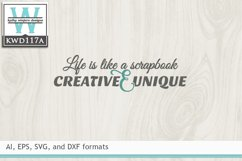 Creativity SVG - Life Is Like A Scrapbook Product Image 1