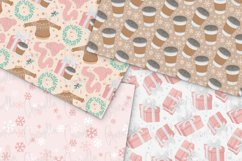 Pink Winter Digital Papers Product Image 3
