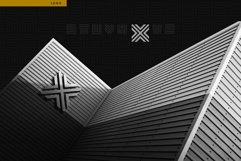 Geometric Maze Font Product Image 4