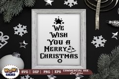 We wish you a merry christmas, Christmas Sign svg, Dxf, Png Product Image 3