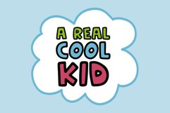 CARTOON KID   A comic book style font Product Image 2