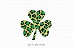 St Patrick's day shamrock cheetah print svg. Shamrock SVG Product Image 1