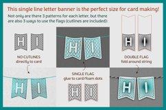 Flag banner SVG BUNTING ALPHABET   single line foil sketch Product Image 3