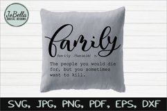 Funny Family Definition SVG, Sublimation PNG and Printable Product Image 2