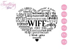 Wife Word Art - Svg Cut Files Product Image 1