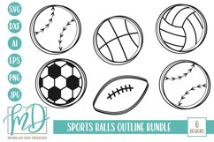 Sports Balls Outline Bundle SVG Product Image 1