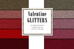 Valentine Glitters, Blush Red Textures, Romantic Paper Product Image 1