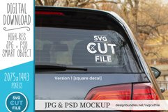 Car decal mockup, vinyl decal mock up, car sticker psd file Product Image 1