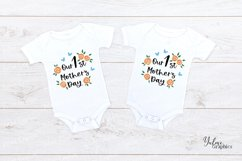 Our First Mothers Day. Mothers Day SVG. 1st 1Mother's Day SV Product Image 2