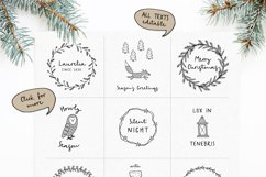 Snowy Christmas script font & logos Product Image 3