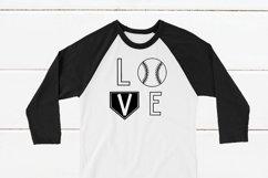 Baseball LOVE Shirt SVG Product Image 1