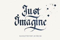 Just Imagine. Blackletter Font. Product Image 1