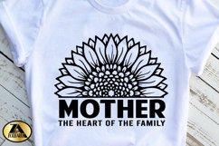 Mother SVG Mothers Day SVG Mom Life SVG Sunflower Heart SVG Product Image 4