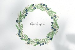 Watercolor floral wreath clipart Product Image 3