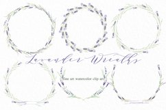 Lavender wreaths watercolor clipart Product Image 2