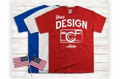 4th Of July Mockup - American Flatlay 3 Color Tshirt Mock Up Product Image 1