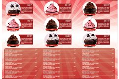 Cupcakes Trifold Brochure Template Product Image 4